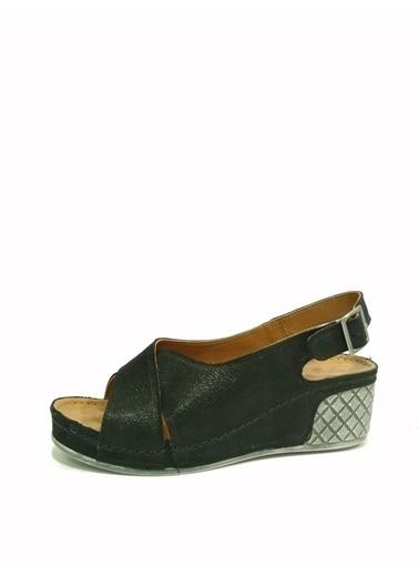 Ballerins Sandalet Siyah